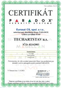Certifikát PARADOX